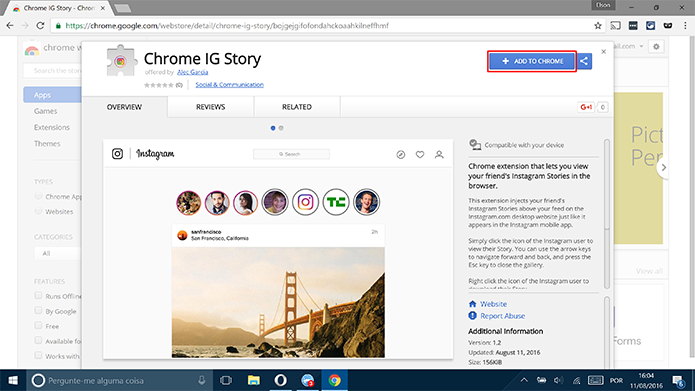 how to open instagram messages in chrome