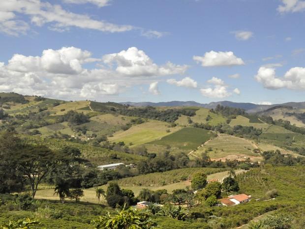 As belezas naturais presentes em Andradas (MG) encantam turistas e visitantes. (Foto: Lúcia Ribeiro/ G1)