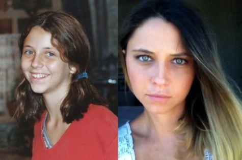 Luiza Curvo na novela 'Era uma vez' e atualmente (Foto: Arquivo)