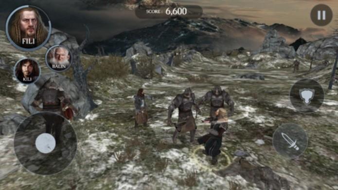 Jogo para iPhone e iPad no novo filme do Hobbit (Foto: Divulgação)