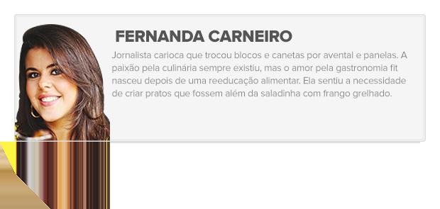 Card Eu atleta - Fernanda Carneiro (Foto: Editoria de arte)