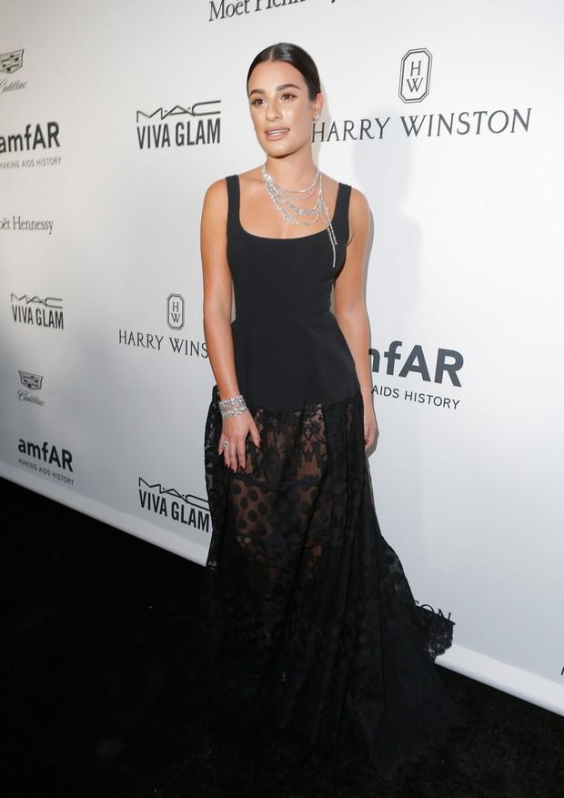 Lea Michele em evento em Los Angeles, nos Estados Unidos (Foto: Jeff Vespa/ Getty Images)