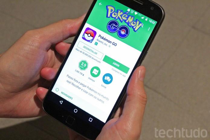Pokemon Go Android (Foto: Camila Peres/TechTudo)