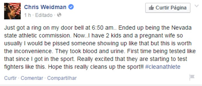 Chris Weidman UFC post