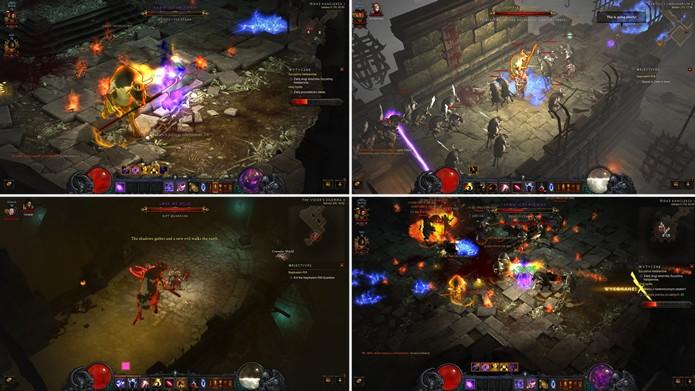 A expansão de Diablo 3 acrescentou várias de missões com vacas demoníacas bípedes (Foto: Reprodução/Craked)