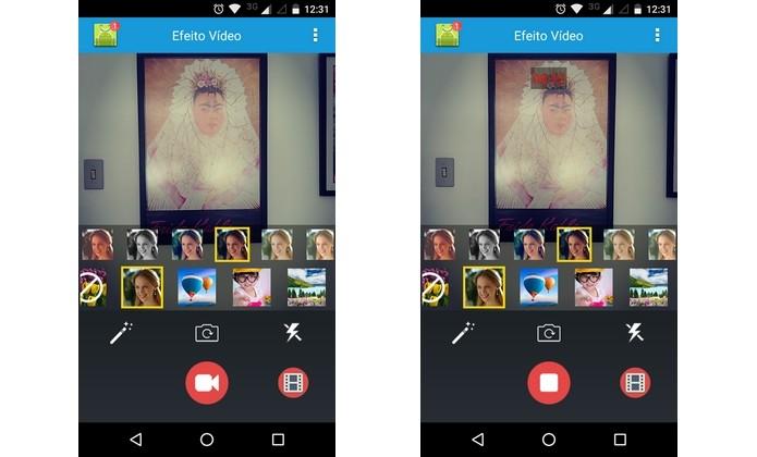 App Android Efeito Vídeo - filtros câmera (Foto: Reprodução/Raquel Freire)