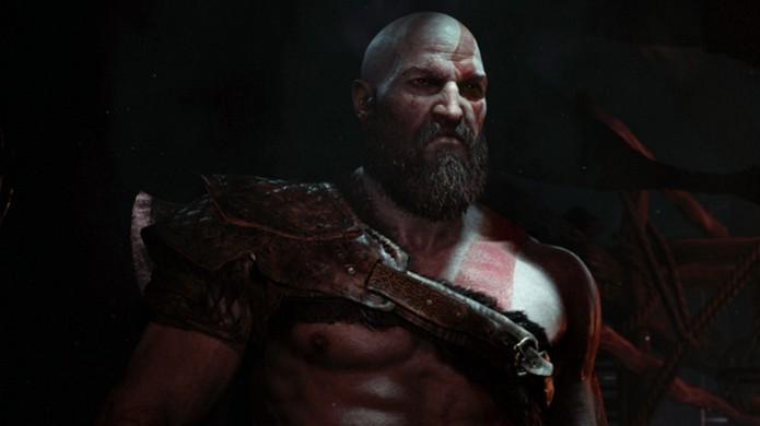 Kratos surpreendeu jogadores quando Sony revelou novo God of War no início de sua conferência na E3 2016 (Foto: Reprodução/PlayStation Blog) (Foto: Kratos surpreendeu jogadores quando Sony revelou novo God of War no início de sua conferência na E3 2016 (Foto: Reprodução/PlayStation Blog))
