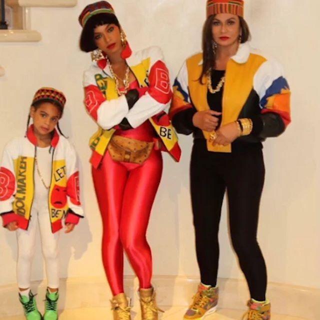 Blue Ivy, Beyoncé e Tina Knowles (Foto: Reprodução)
