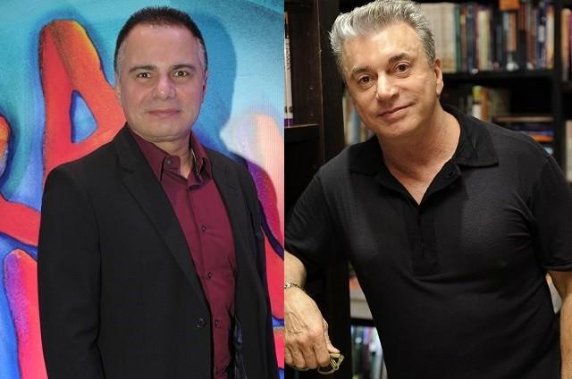 Ricardo Linhares e Edney Silvestre (Foto: TV Globo)