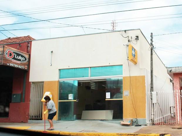 Agência dos Correios de Indiana fica localizada no Centro do município (Foto: Antônio Guedes Júnior/Cedida)
