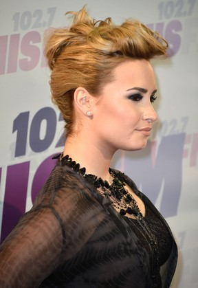 Demi Lovato em evento na Califórnia, nos Estados Unidos (Foto: Frazer Harrison/ Getty Images/ AFP)