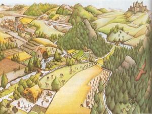 Representação do feudalismo (Foto: reprodução)