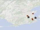 Mapa mostra que ônibus pegar para chegar às festas de São Jorge no Rio