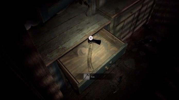 O estranho machado na demo de Resident Evil 7 parece não ter muita utilidade por enquanto (Foto: Reprodução/GameRant)