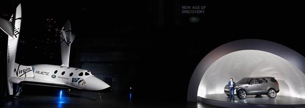 SpaceShipTwo, nave da Virgin, e o Discovery Vision (Foto: Divulgação)