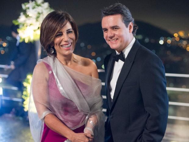 Glória Pires e Cássio Gabus Mendes, que na trama serão Beatriz e Evandro (Foto: Estevam Avellar/Globo)