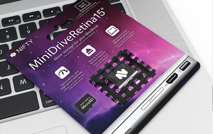 Nifty MiniDrive é uma solução prática para aumentar o armazenamento do MacBook (Foto: Divulgação/Nifty)