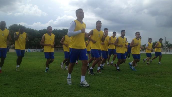 Palmas em pré-temporada  (Foto: Edson Reis/GloboEsporte.com)