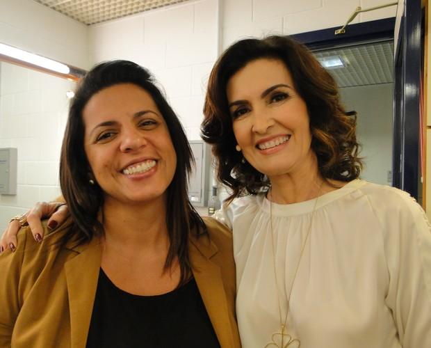 Fátima e Melissa (Foto: Encontro com Fátima Bernardes/TV Globo)