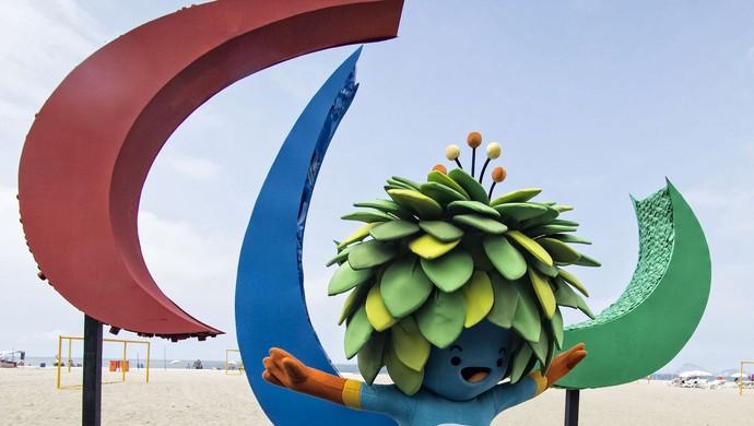 Mascote Tom ação Paralimpíada Rio 2016 (Foto: Marcio Rodrigues/MPIX/CPB)