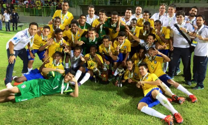 Brasil sub-15 Sul-Americano Colômbia (Foto: Divulgação CBF)