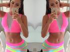 Adriana Sant'anna posa de sainha e barriga de fora: 'Prenda a respiração'