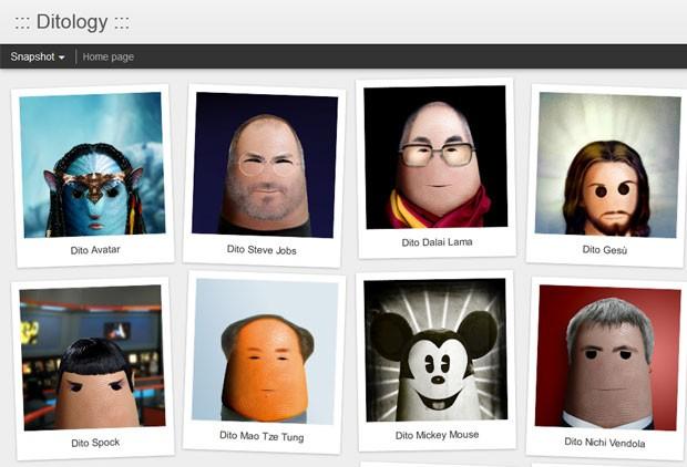 Artista usa dedão para criar retratos de personalidades (Foto: Reprodução)