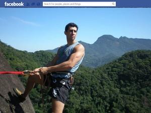 Foto do Facebook do aplpinista Bruno Silva, que morreu após cair do Pão de Açúcar, no Rio (Foto: Reprodução/Facebook)