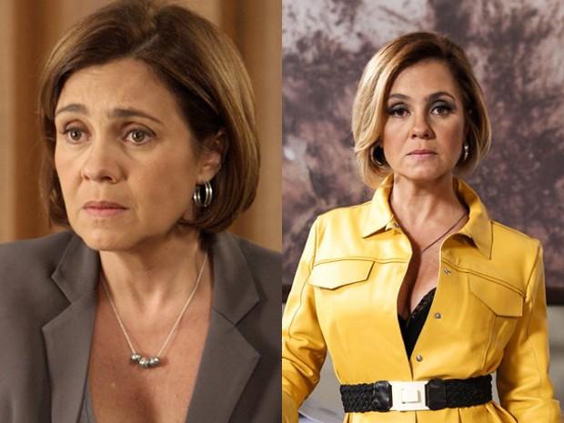 O antes e o depois de Inês: a advogada ficou mais gata na nova fase (Foto: Divulgação/TV Globo)