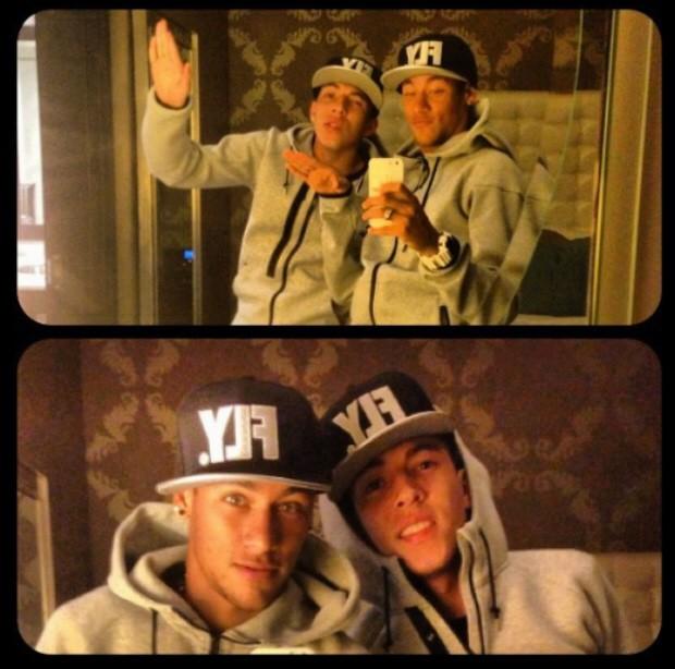 Neymar e amigo em viagem (Foto: Reprodução / Instagram)