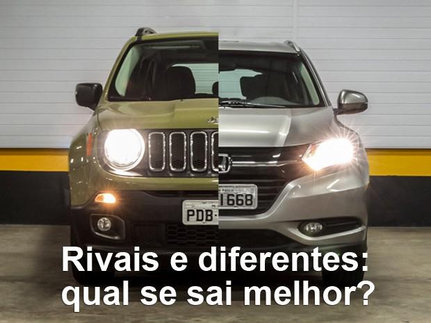 Honda HR-V e Jeep Renegade: veja qual SUV se sai melhor (Foto: Fábio Tito e Marcelo Brandt / G1)