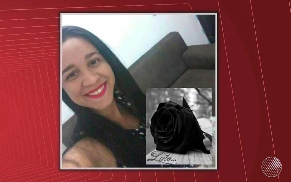 Luana Fernandes Hungria foi morta a tiros na porta de casa em Salvador e o principal suspeito é o ex-namorado (Foto: Imagem/Tv Bahia)