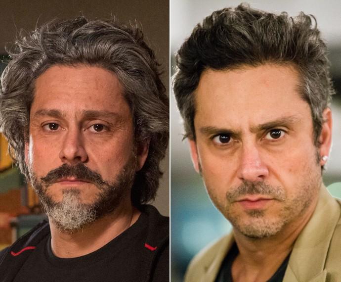 Antes e depois: Alexandre Nero na pele do Comendador José Alfredo ('Império') e Romero ('A Regra do Jogo') (Foto: TV Globo)