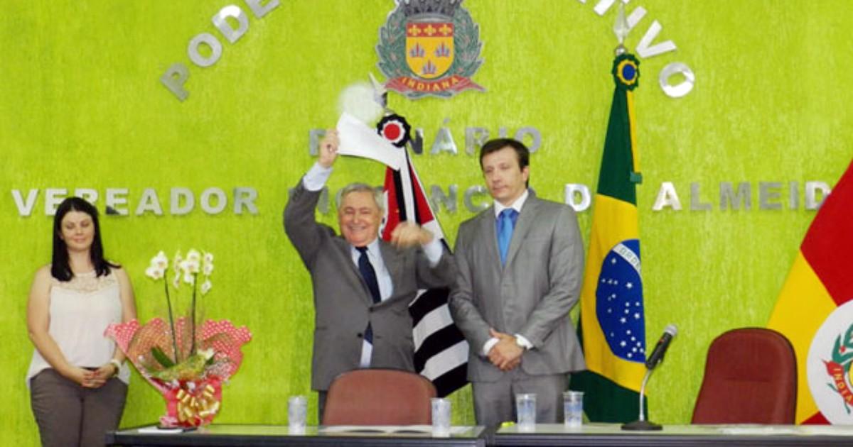 TRE realiza diplomação de novo prefeito de Indiana, Agenor Stuani - Globo.com