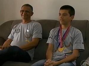Aluno de Petrolina ganha medalha de ouro na Obmep (Foto: Reprodução/ TV Grande Rio)