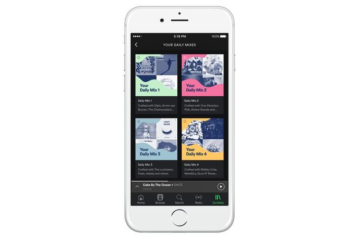 Recurso mostra um mix com faixas preferidas e com mesmo gosto musical do usuário do Spotify (Foto: Divulgação/Spotify)