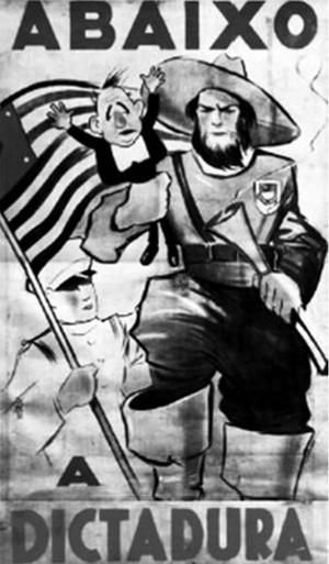 Cartaz da Revolução Constitucionalista.  (Foto: Disponível em: http://veja.abril.com.br. Acesso em: 29 jun. 2012)