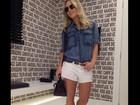 Claudia Leitte posa para foto com o novo visual