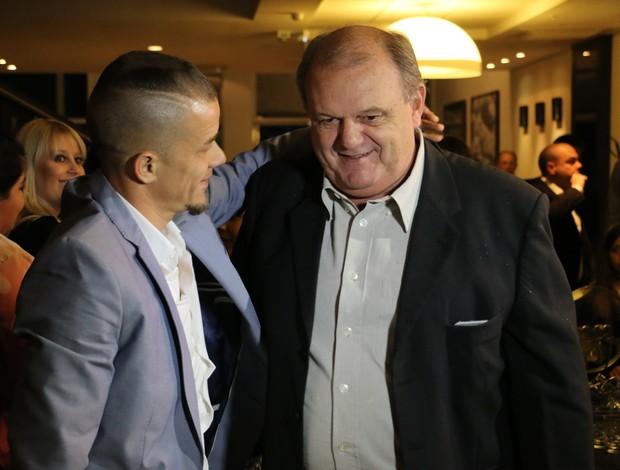 D'Alessandro e presidente do Inter Vitorio Piffero no Lance de Craque
