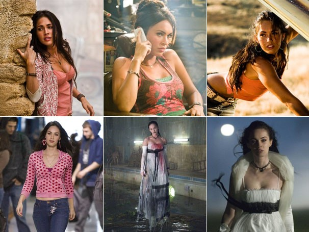"""Megan Fox em """"Transformers"""" e """"A Garota Infernal"""" (Foto: Divulgação / Reprodução)"""