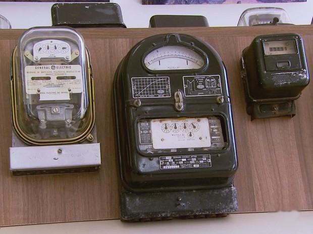 Museu da eletricidade conta história do abastecimento em Poços de Caldas, MG (Foto: Reprodução EPTV)
