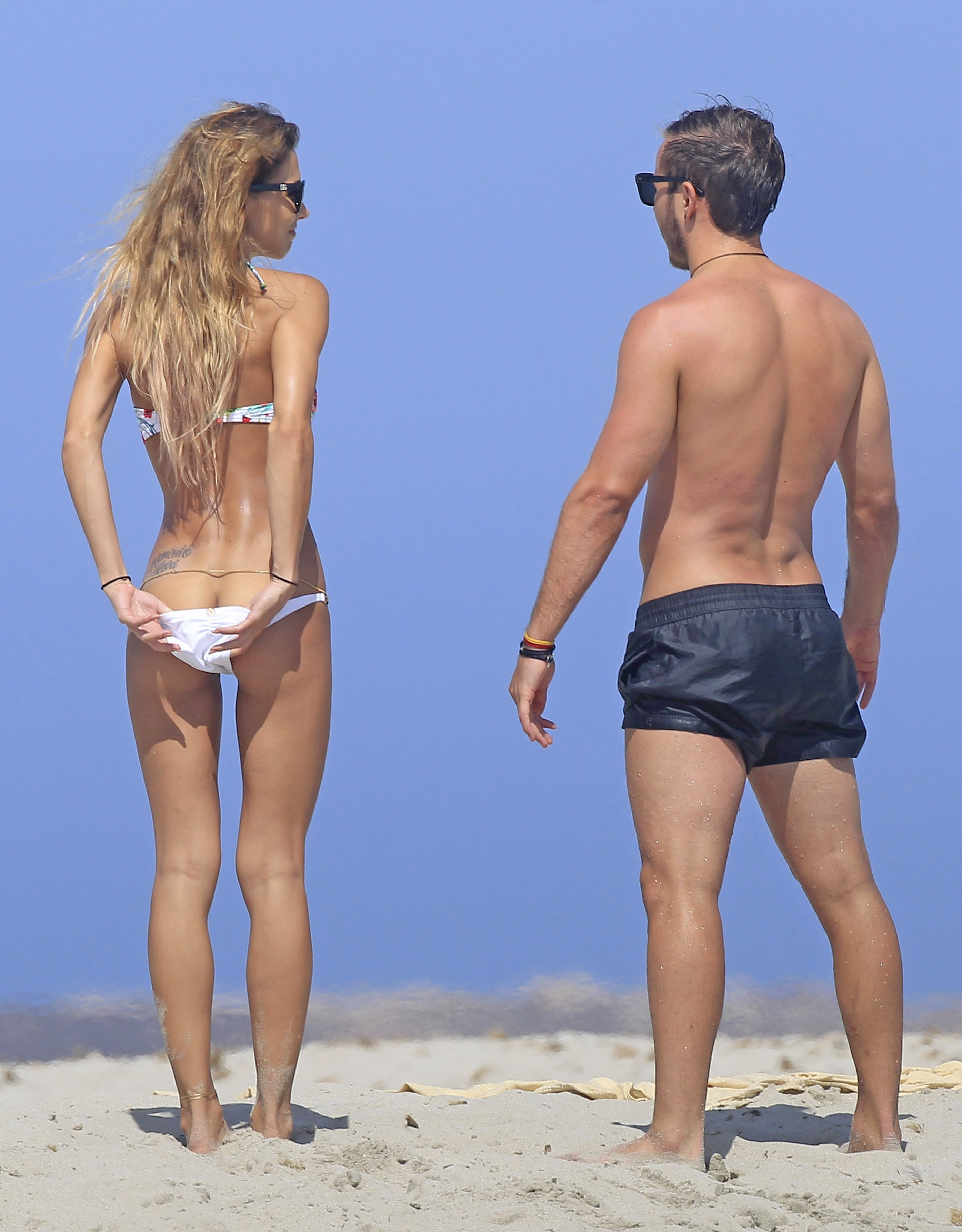 Ann Kathrin Brommel e Mario Gotze (Foto: The Grosby Group)
