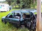 Motorista bate em árvore na Raposo Tavares, em Presidente Venceslau