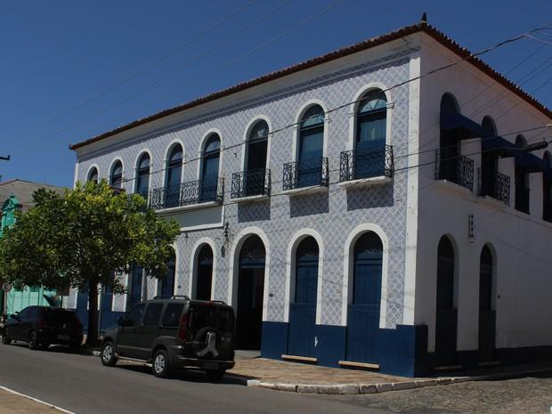 Casarão dos Azulejos data do final do século XVIII (Foto: Patrícia Andrade/G1)