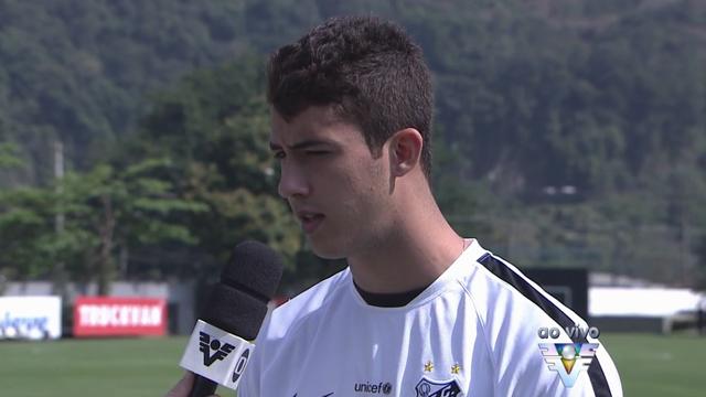 Gustavo Henrique, zagueiro do Santos (Foto: Reprodução/TV Tribuna)