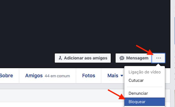 Opção para deletar uma amizade desfeita no Facebook (Foto: Reprodução/Marvin Costa)