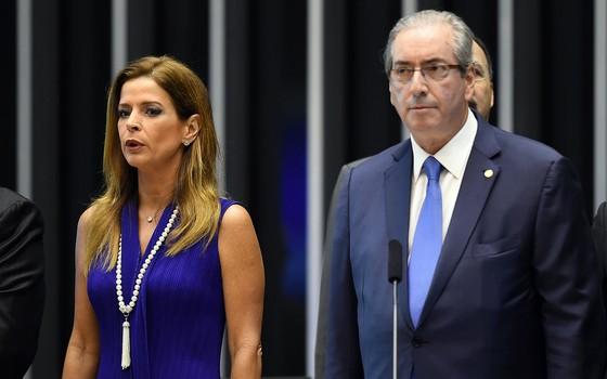 Cláudia Cruz e Eduardo Cunha (Foto: Reprodução)