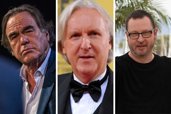 Os diretores Oliver Stone, James Cameron e Lars Von Trier já foram acusados de serem verdadeiros carrascos no set de filmagens (Foto: Getty Images)