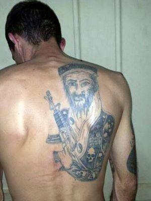 Suspeito com tatuagem de Osama Bin Laden foi preso em Piracicaba (Foto: Valter Martins/Piracicaba em Alerta)