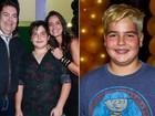 Filho de Faustão aparece loiríssimo em festa de aniversário de famosos